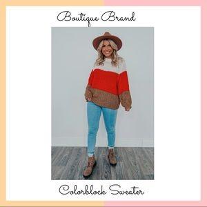 Boutique Brand Color-block Sweater